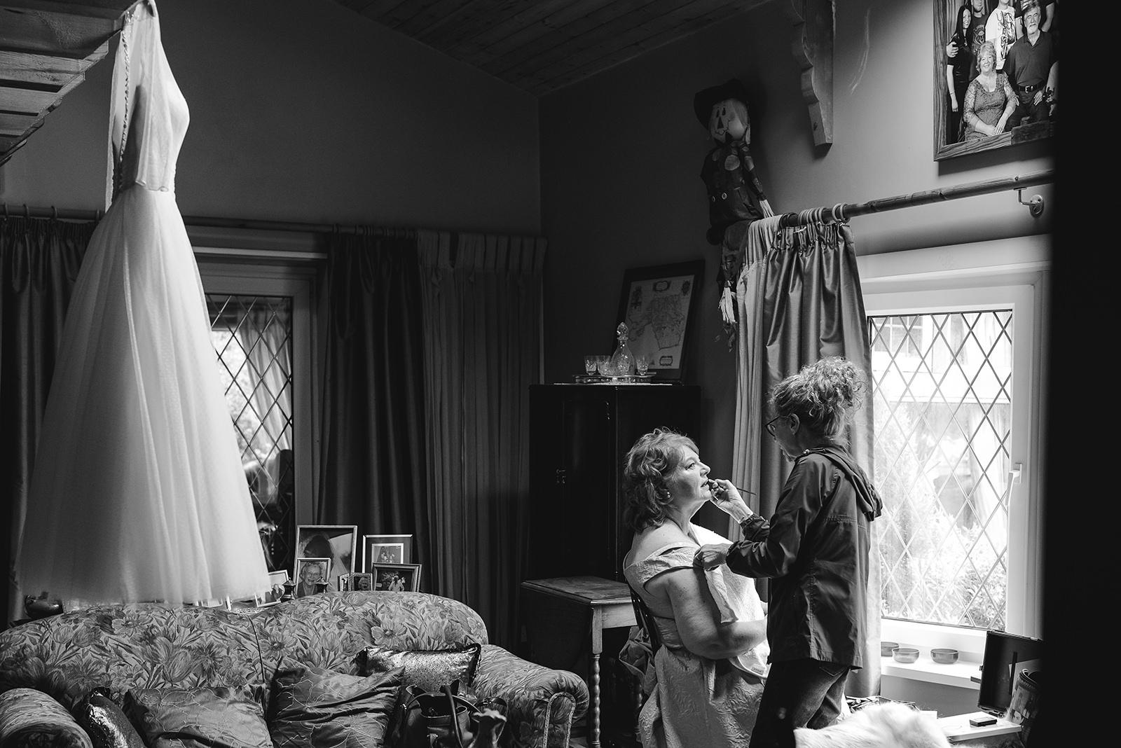 Bridal preparations - wedding photographer wales