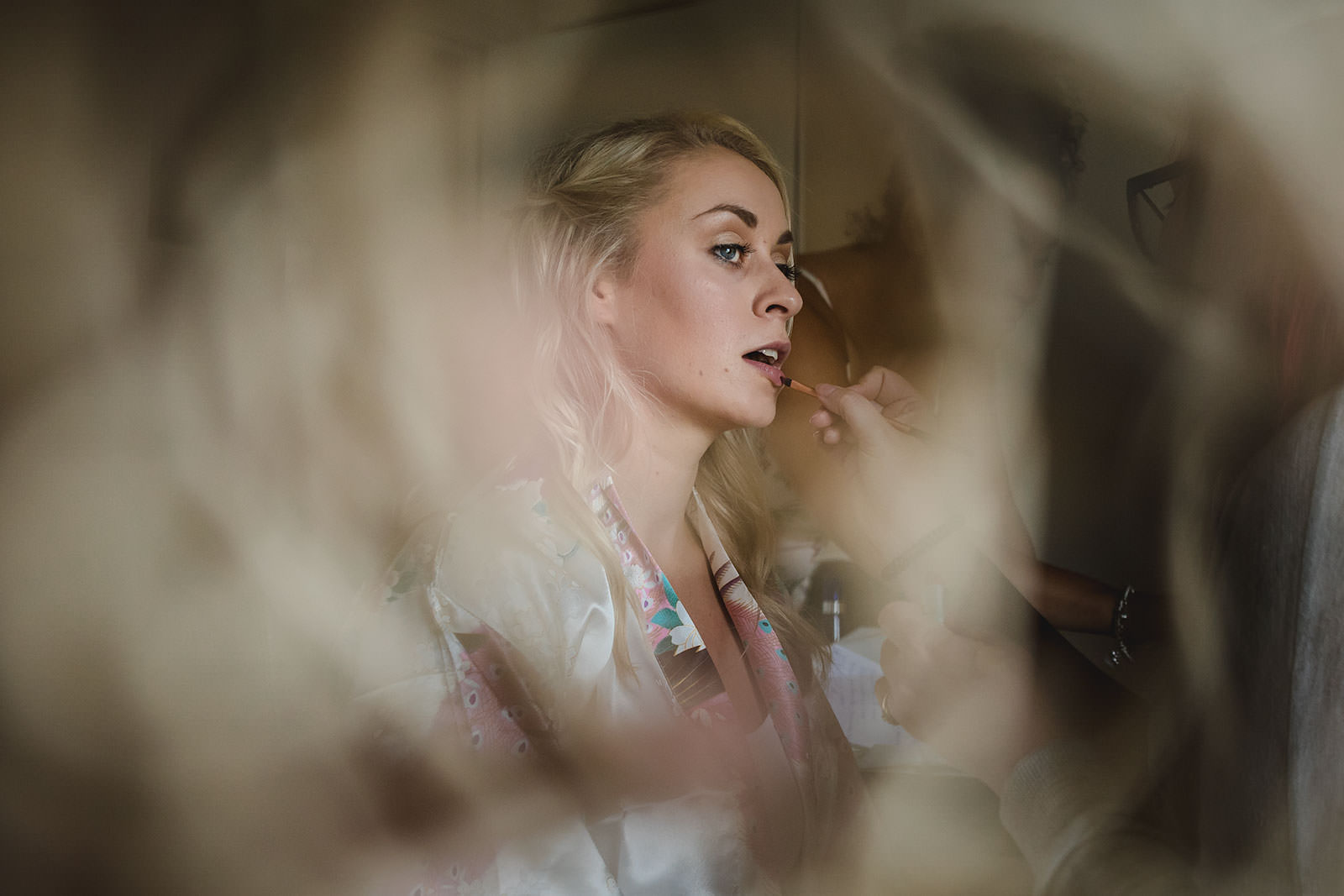 Bridal preps wedding photography Wales