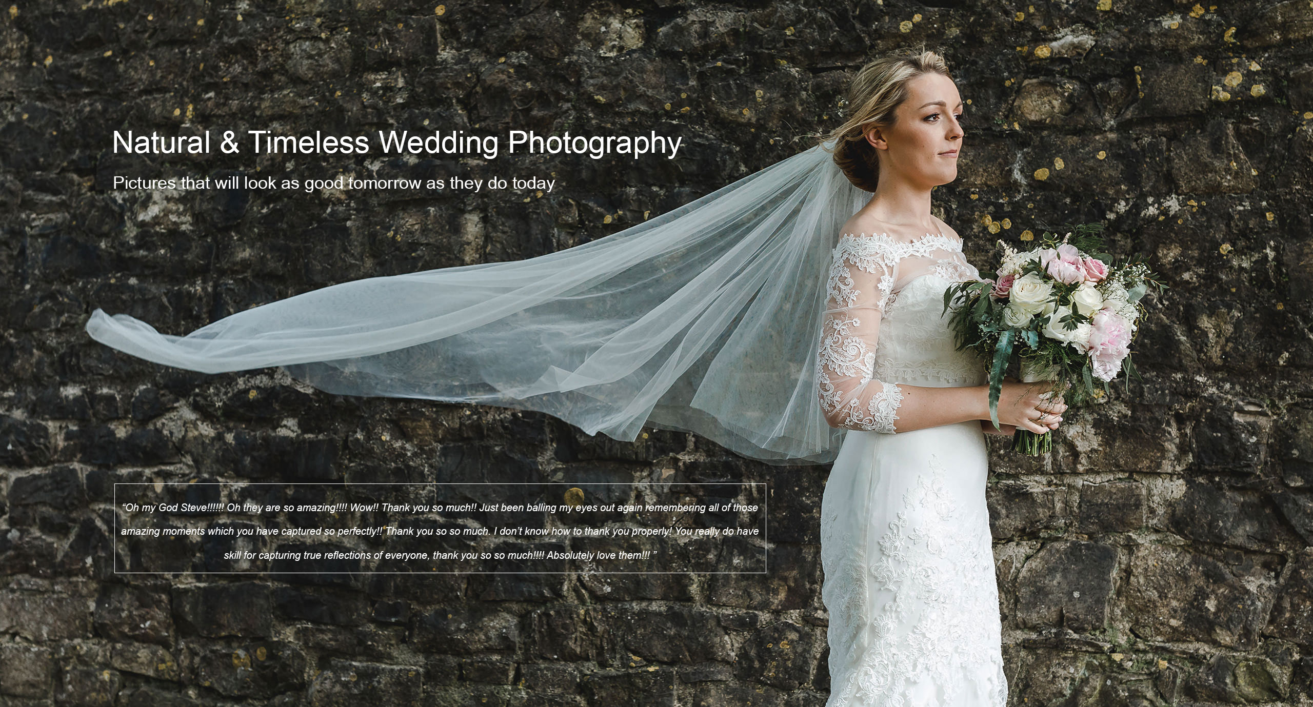 Natural and Timeless Wedding Photography South Wales