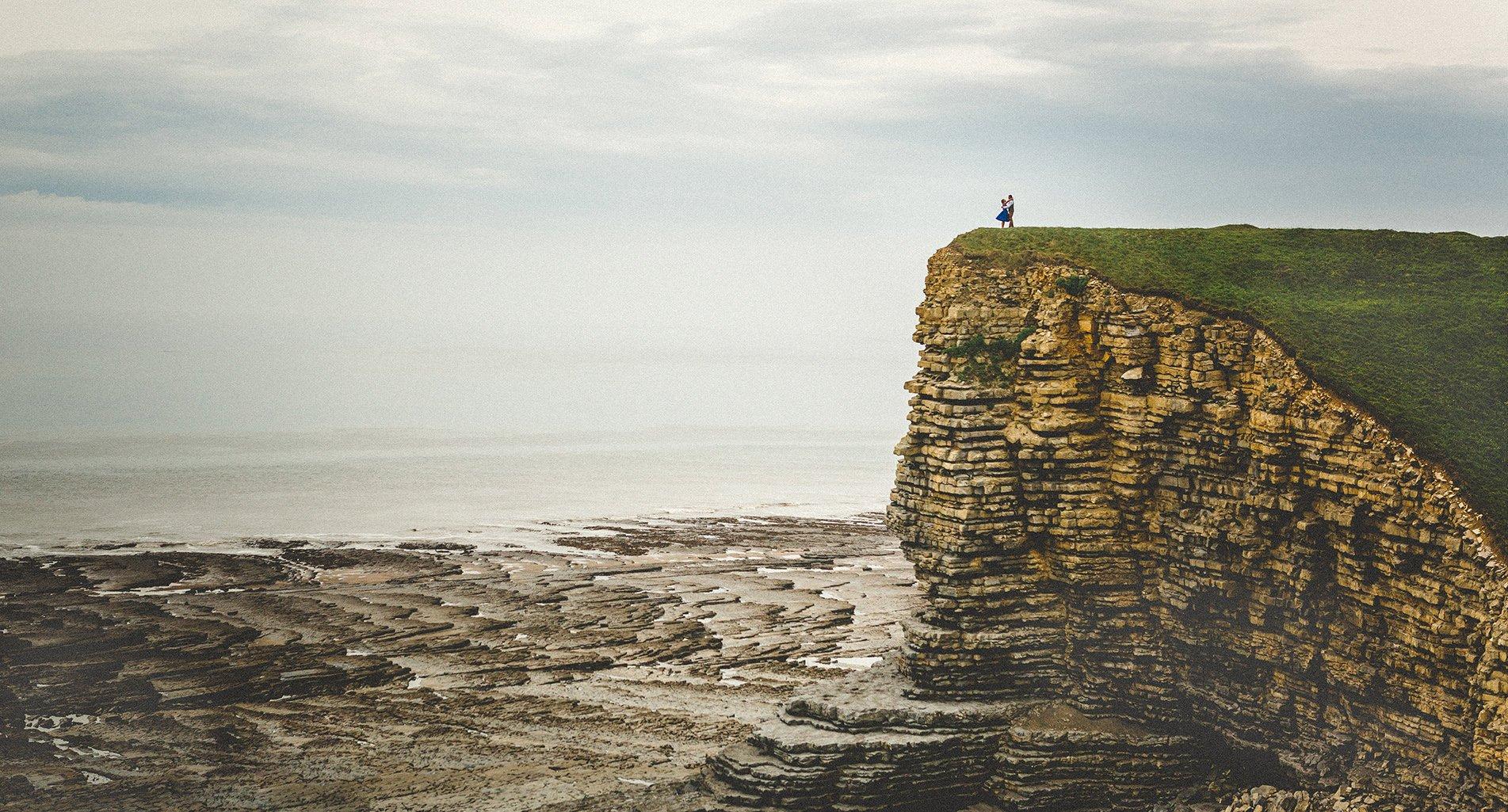 Nash point lighthouse wedding photography