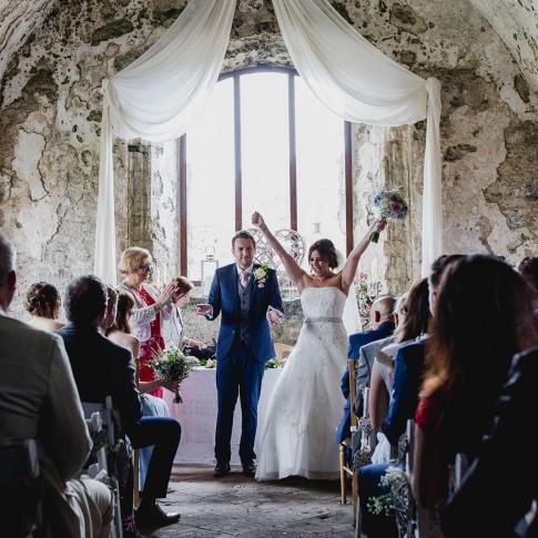 Wedding Photography Wales - Manorbier Castle
