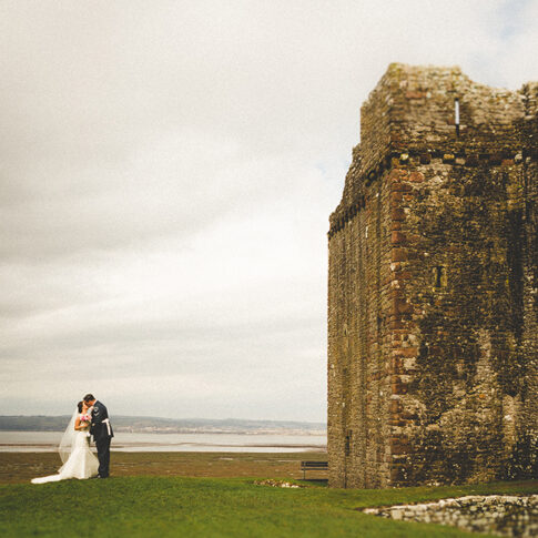 wedding photography ocean view windmill gower
