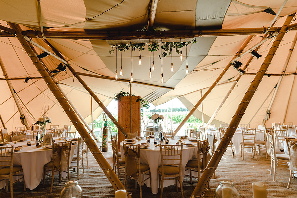 tipi wedding south wales