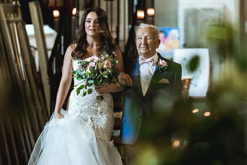 bride and grandfather south wales
