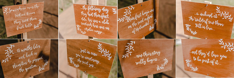 diy wedding storyboard south wales
