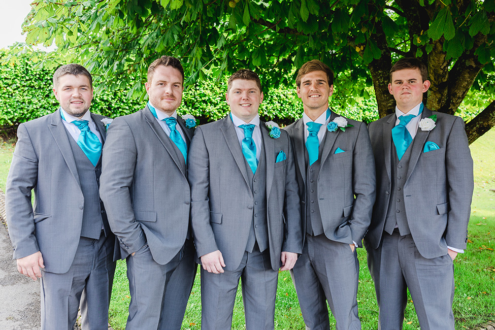 Groom and Groomsmen Suits