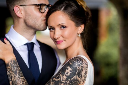 Bride with Tattoos - Wedding Photographer Newport, South Wales