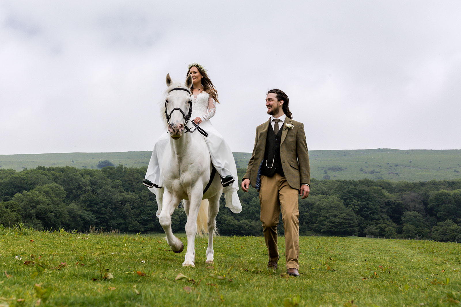 Boho Farm Wedding Wales - Llanthony Priory