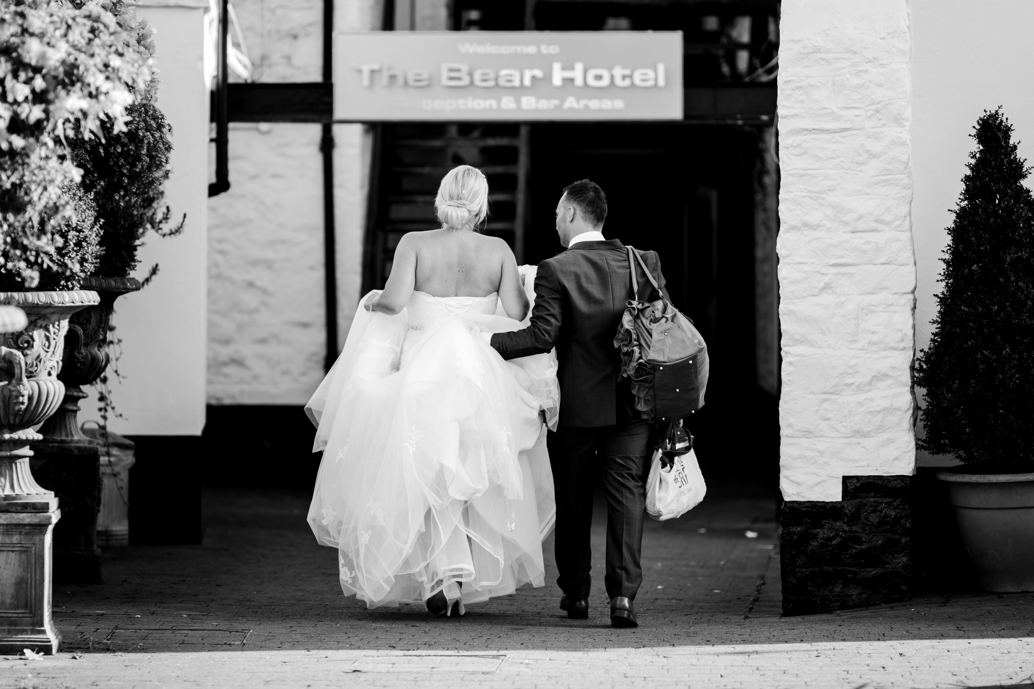 The bear hotel wedding photography