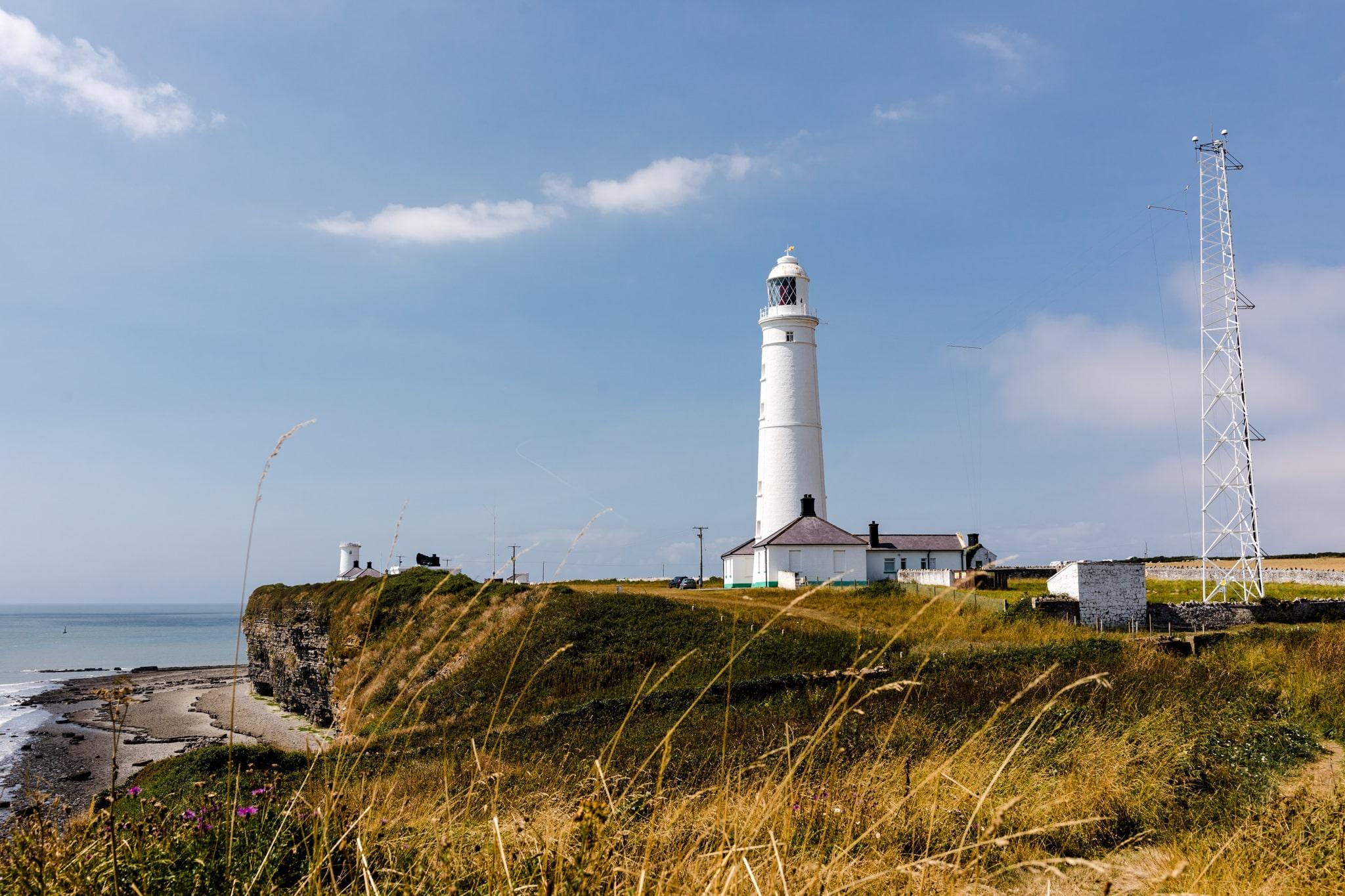 Nash point lighthouse wedding Wales