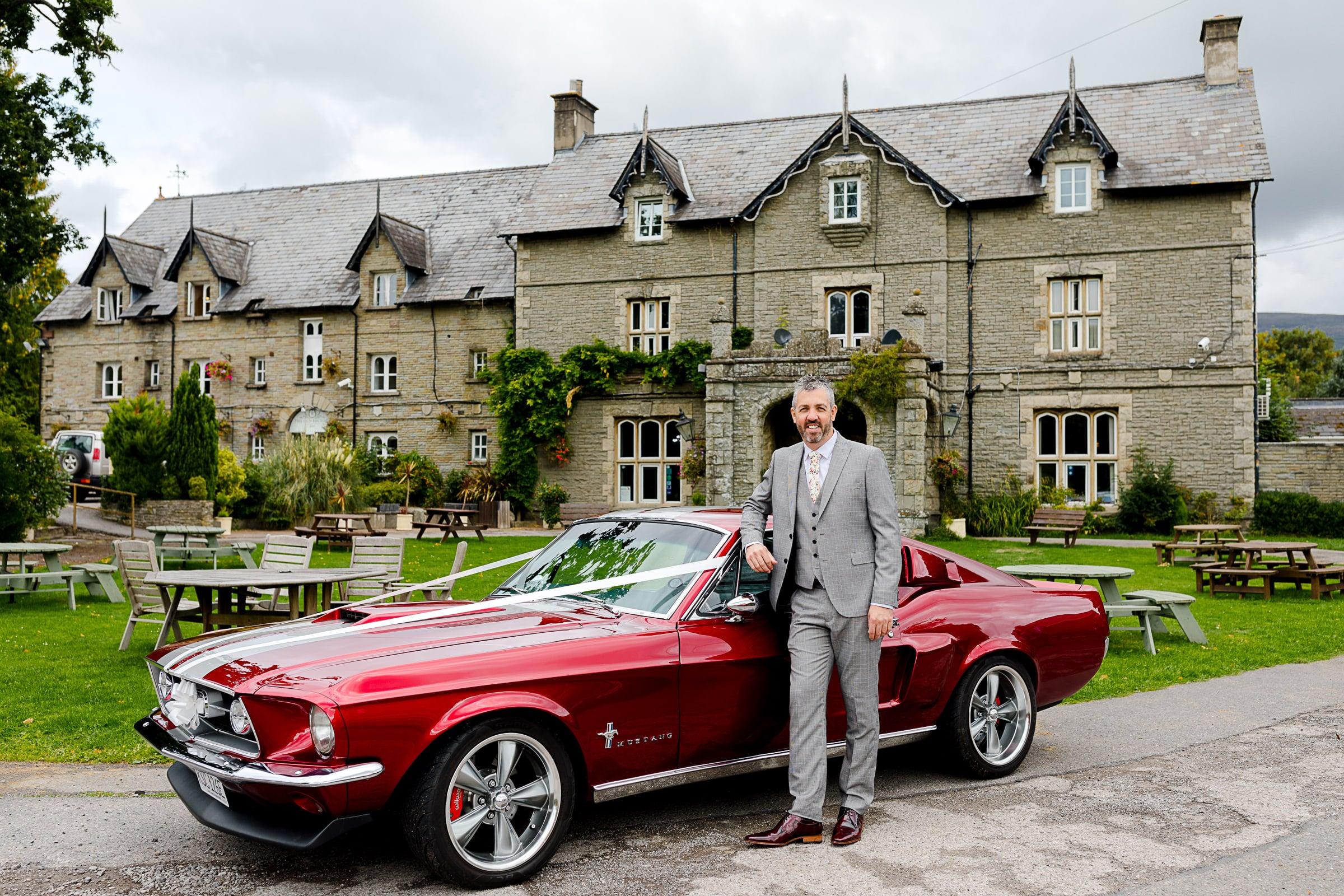 Mustang Wedding Car Wales