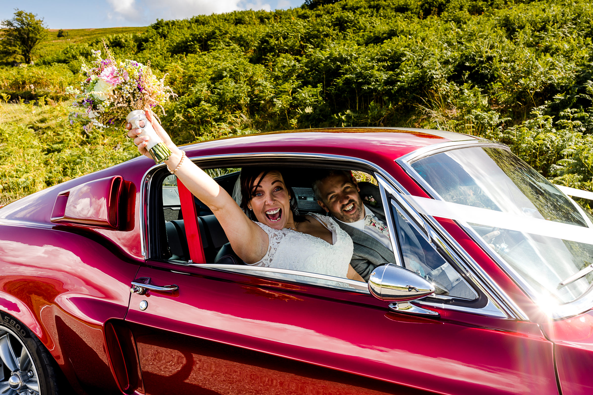 Mustang wedding photography