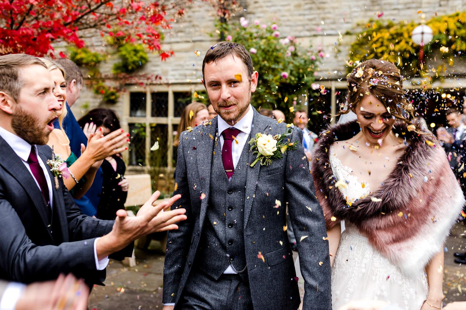 Miskin Manor Wedding Photography - Art by Design Photography - Confetti
