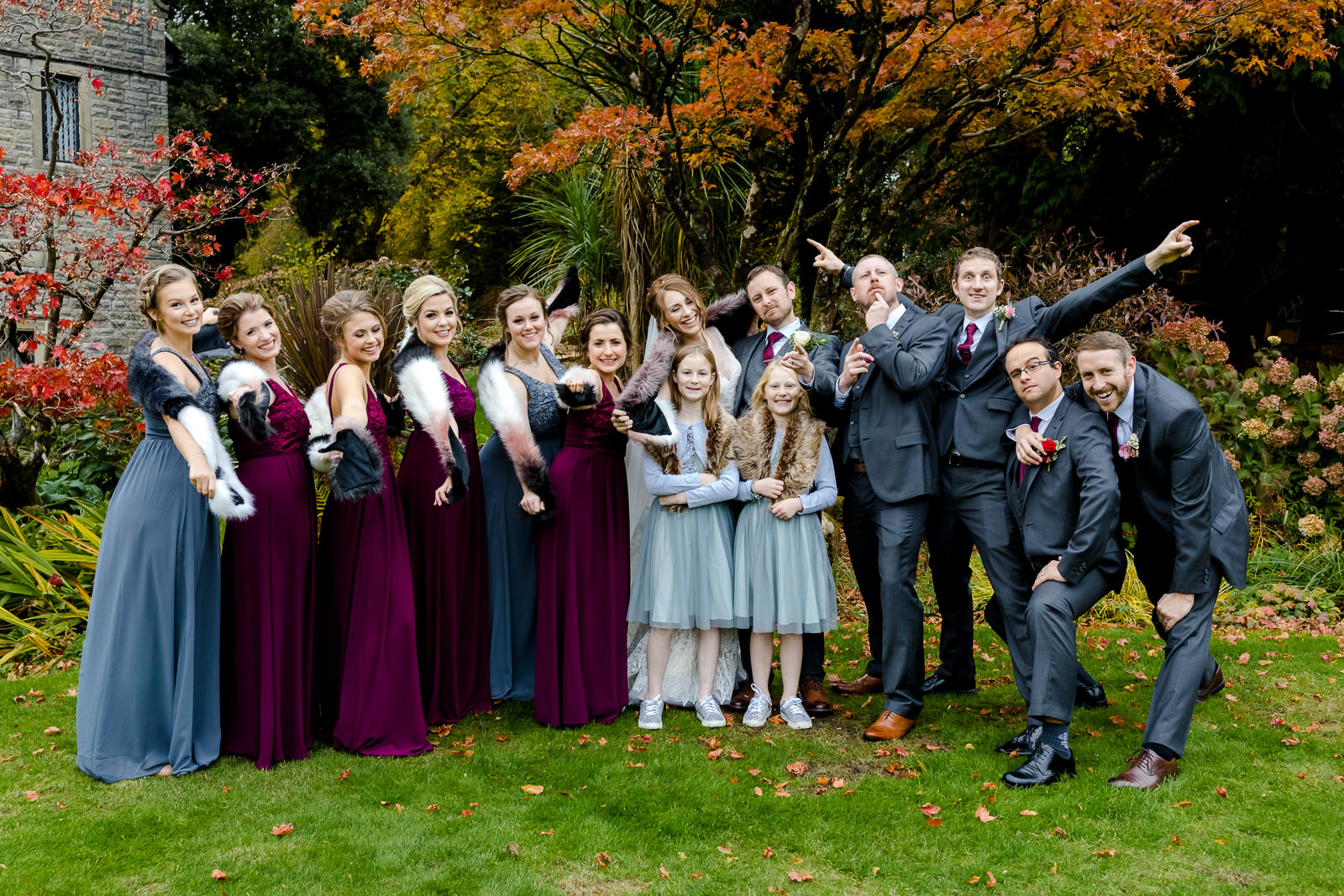 Miskin Manor Wedding Photography - Art by Design Photography - Wedding Party
