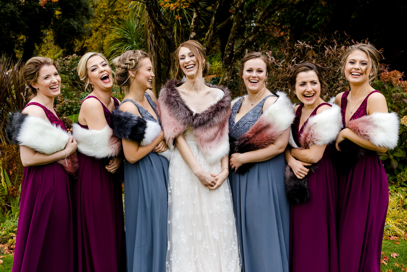 Miskin Manor Wedding Photography - Art by Design Photography - Bridesmaids and Bride