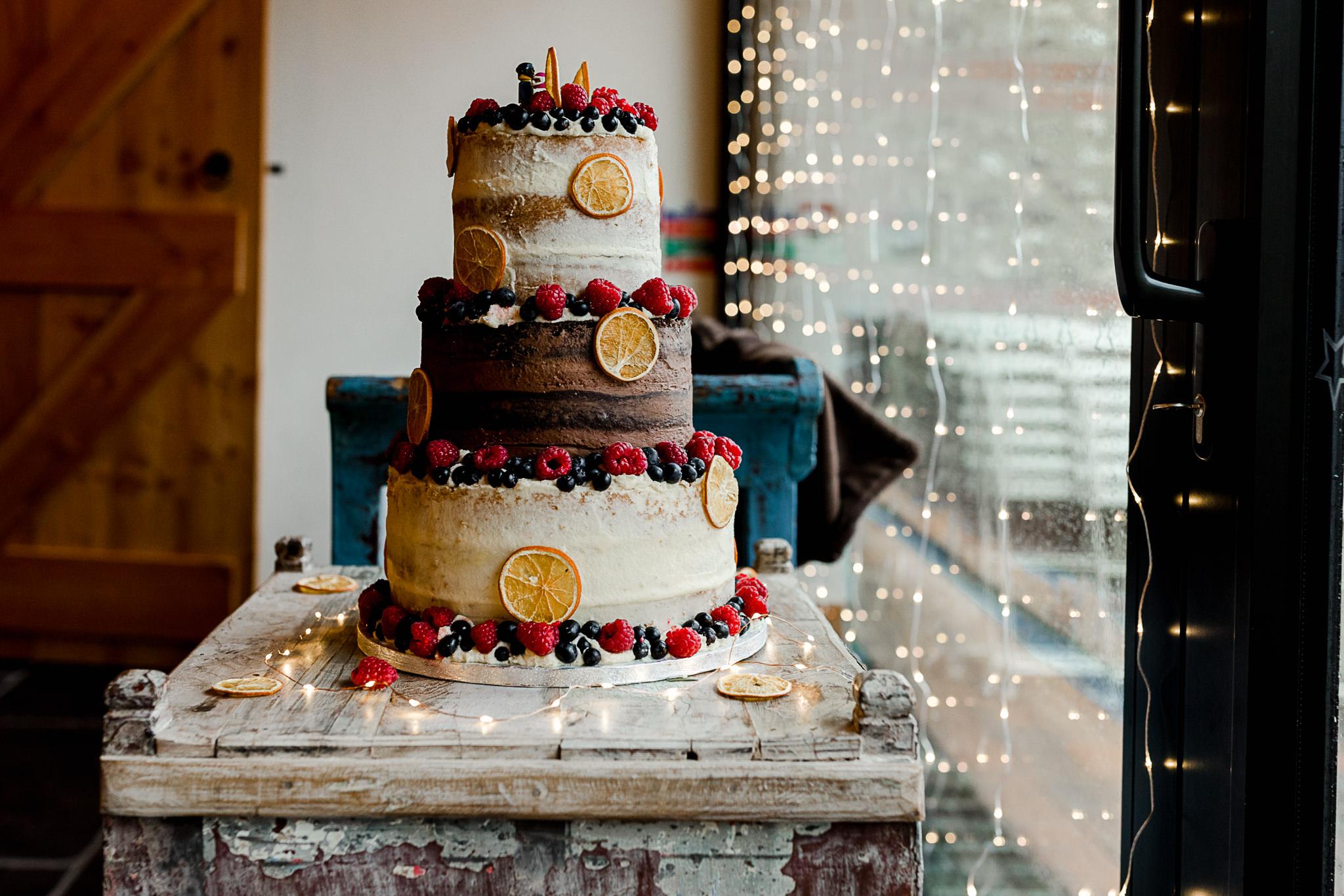 The Gathering Barn Wedding - Art by Design Photography - wedding cake