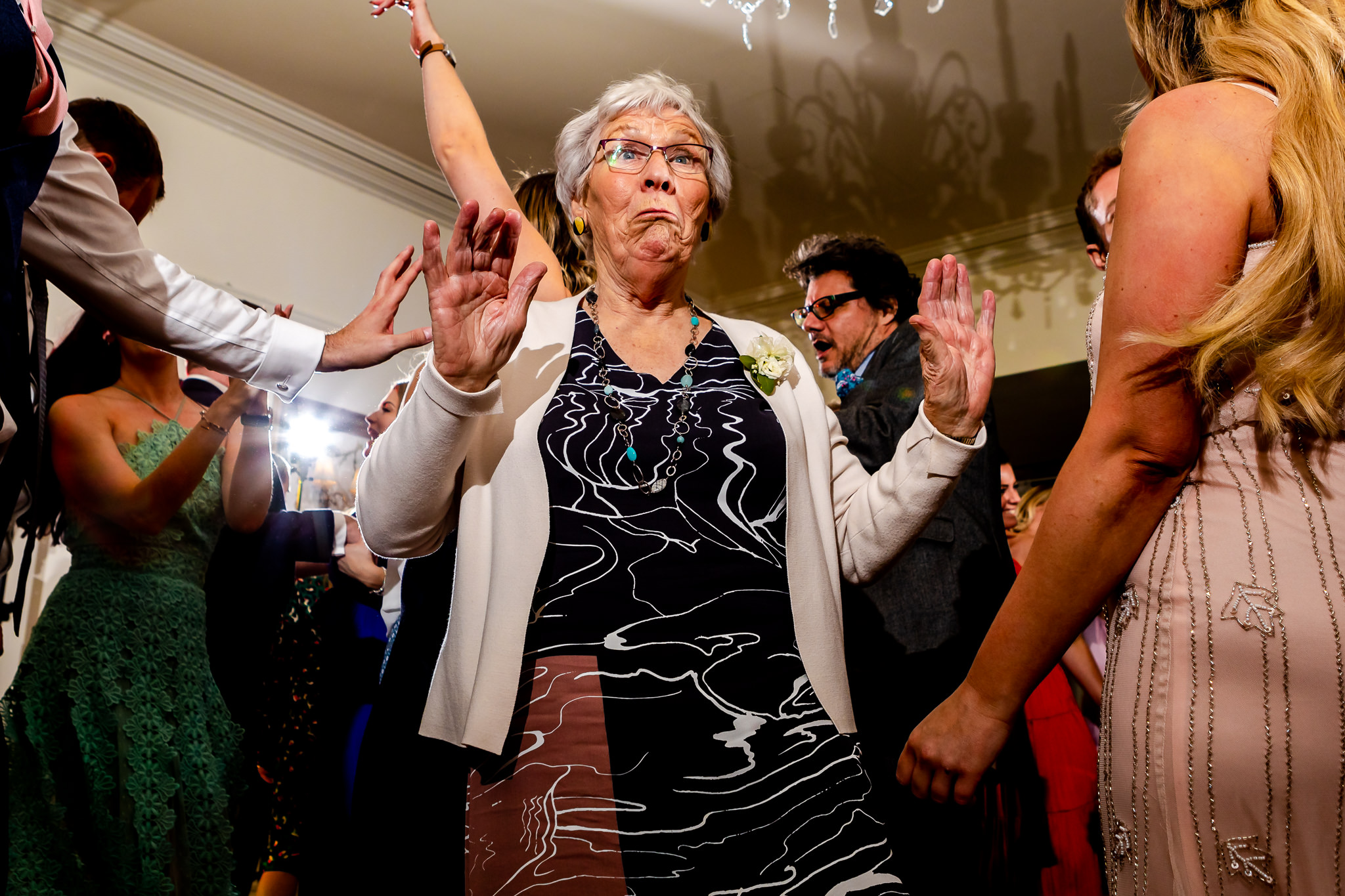 Dancing Granny at a wedding