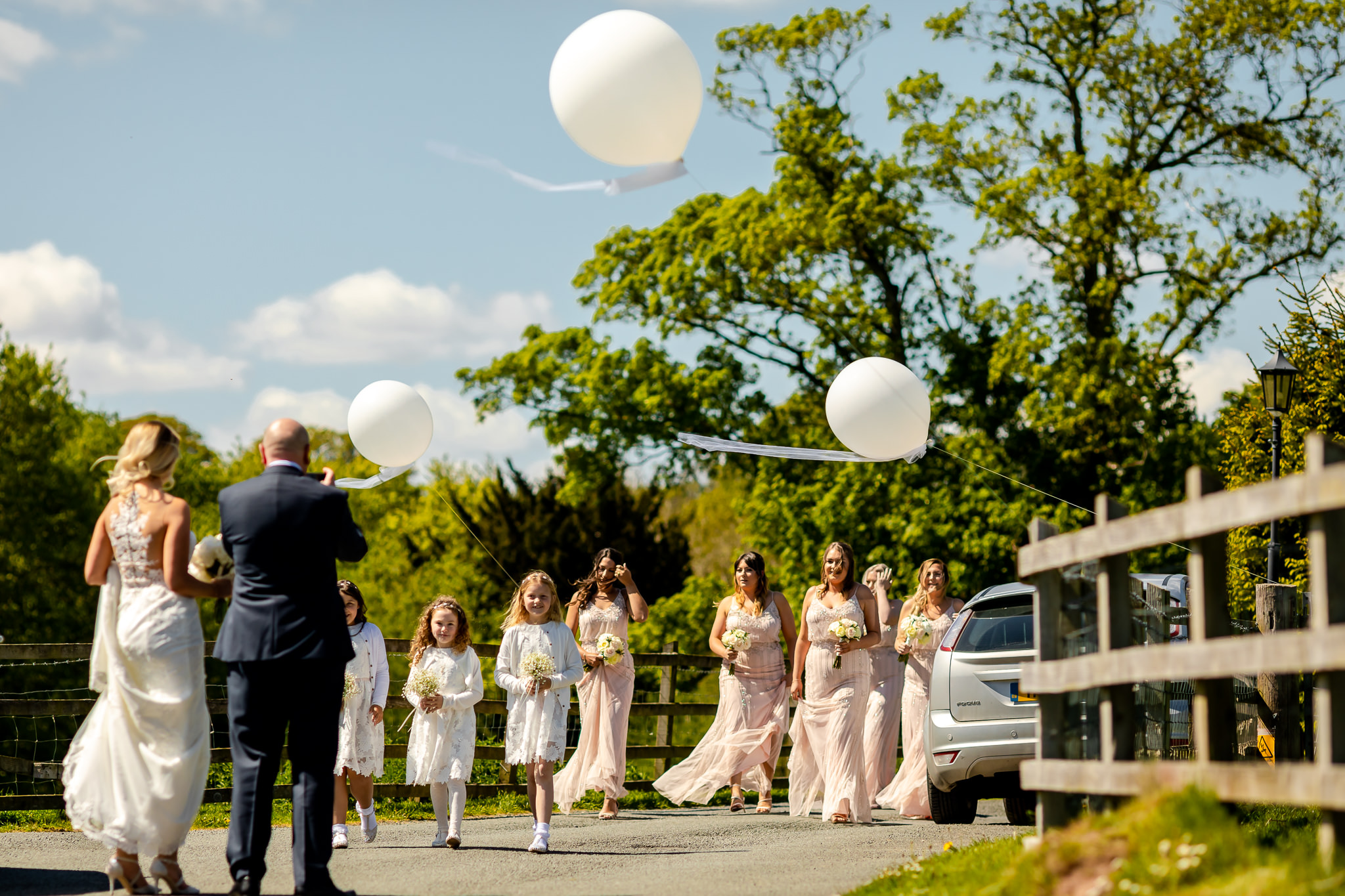 Bridesmaids - Peterstone Court wedding