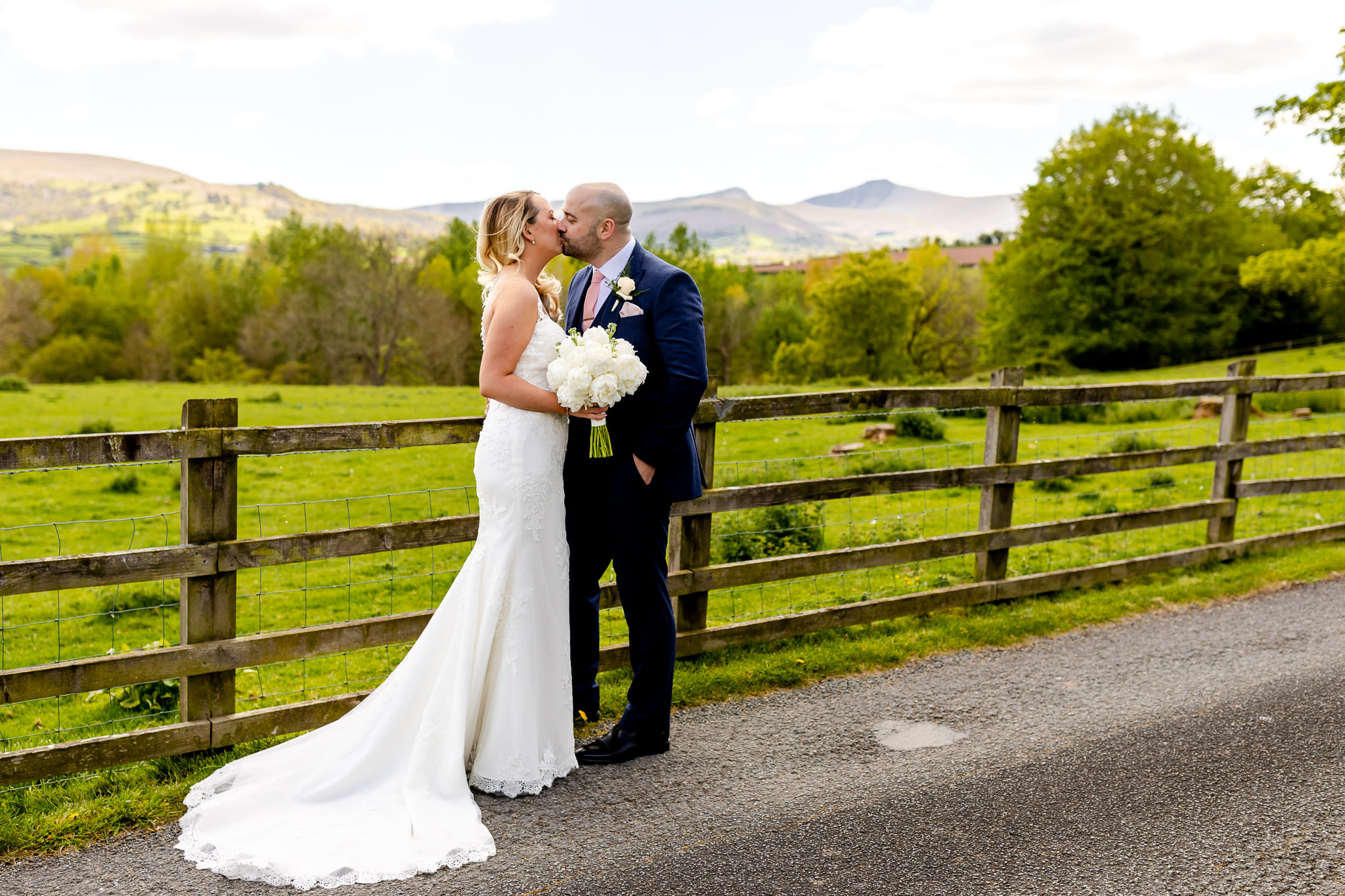 Bride and Groom - Peterstone Court wedding