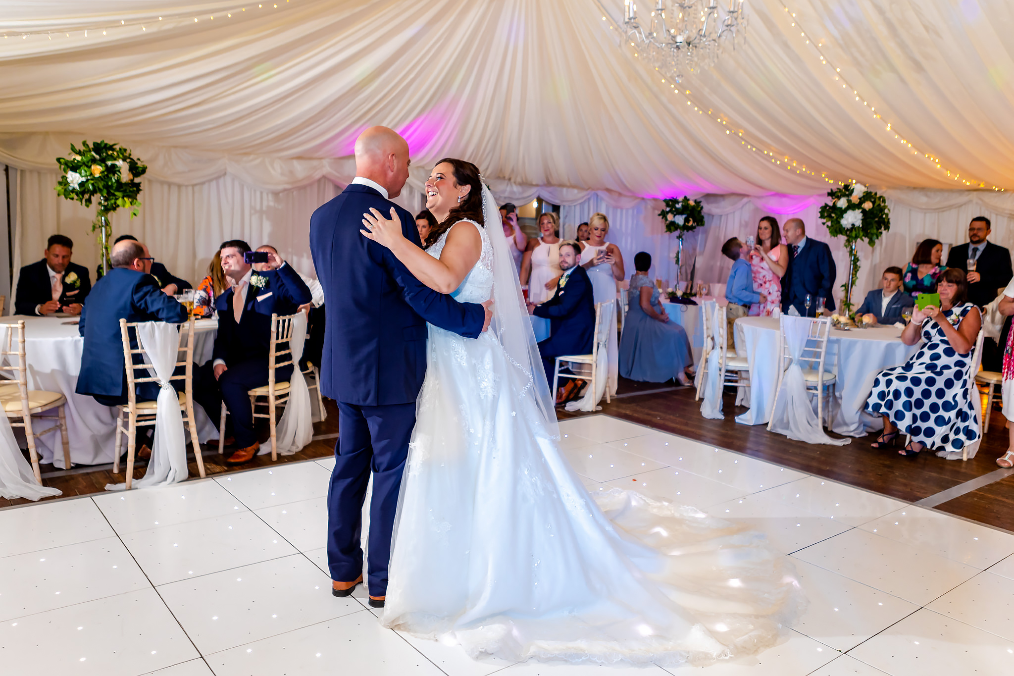 Bryngarw House Wedding Photography - Bride and Groom first dance
