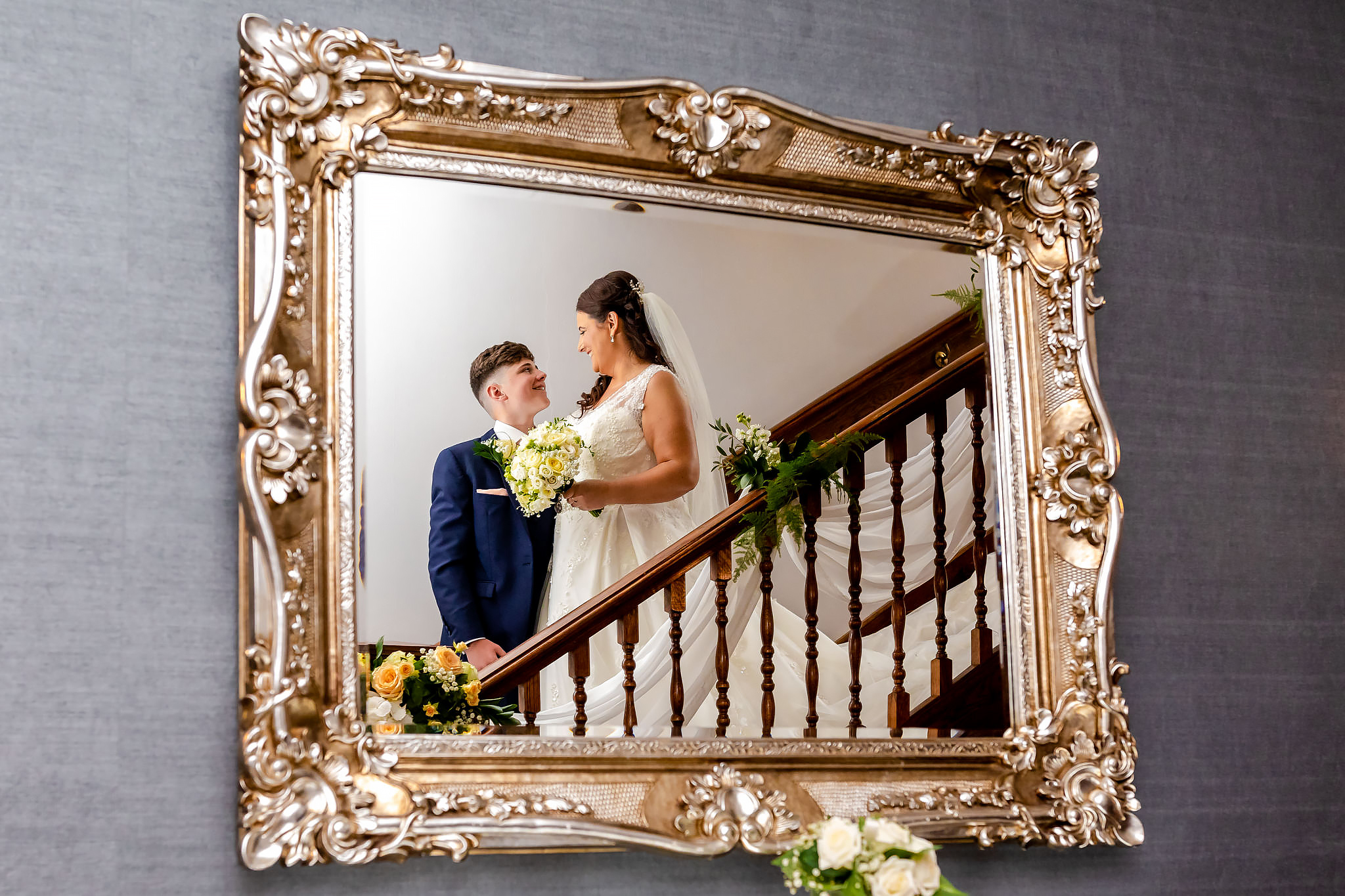 Bryngarw House Wedding Photography - Bride and son