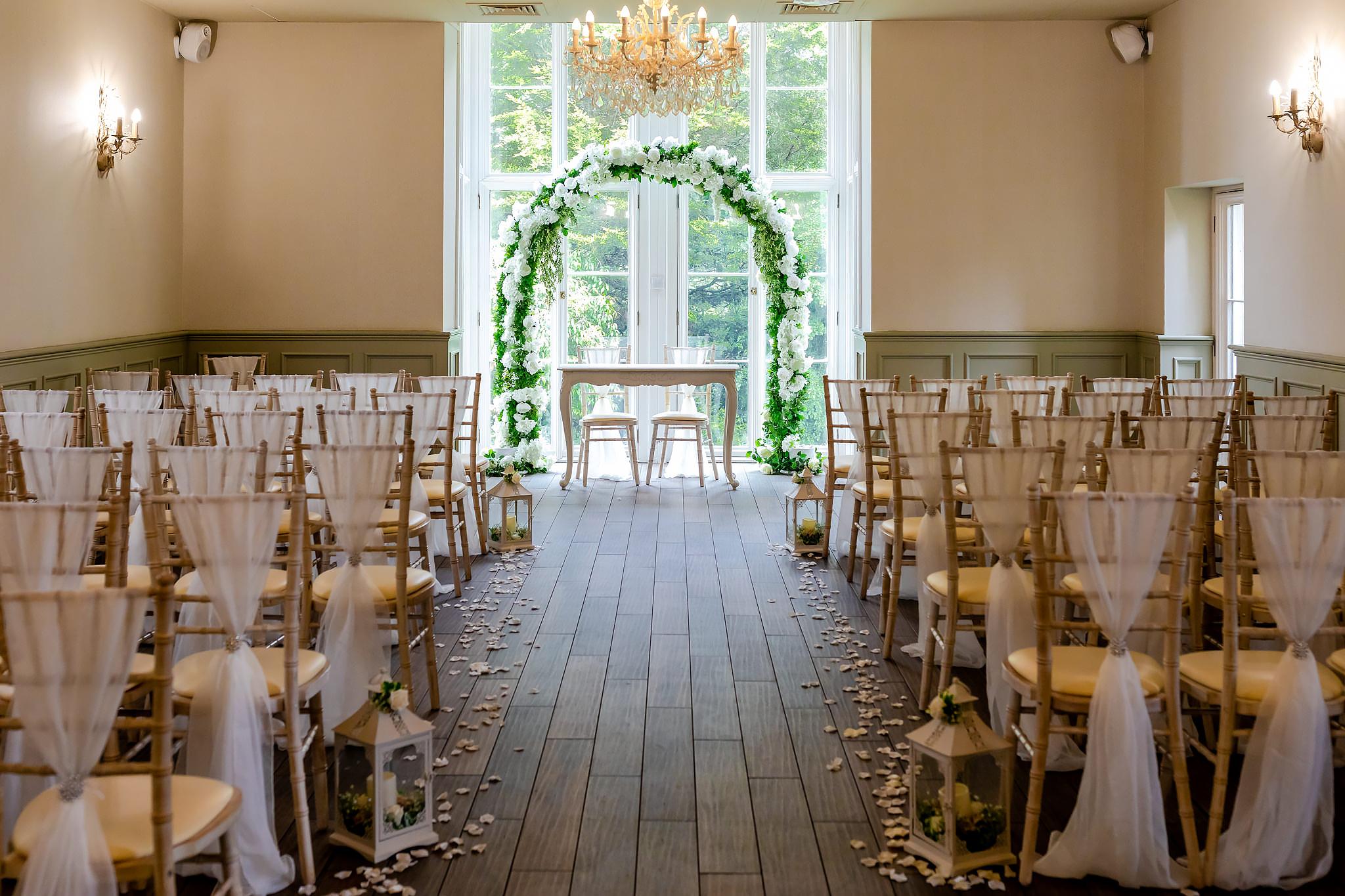 Bryngarw House Wedding Photography - Ceremony Room