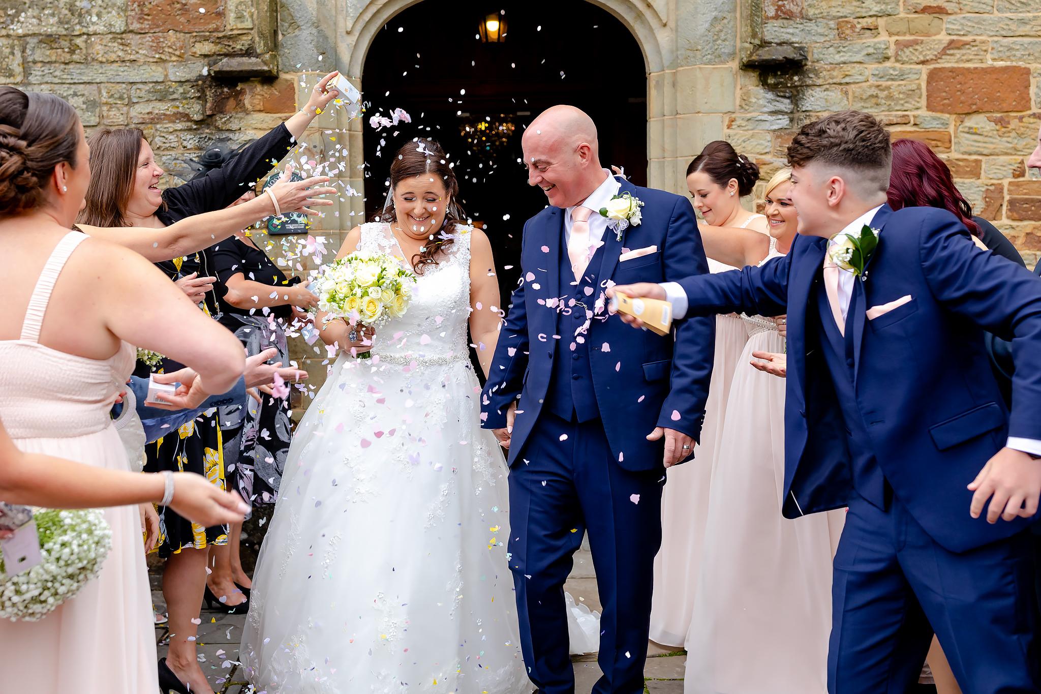 Bryngarw House Wedding Photography - Confetti