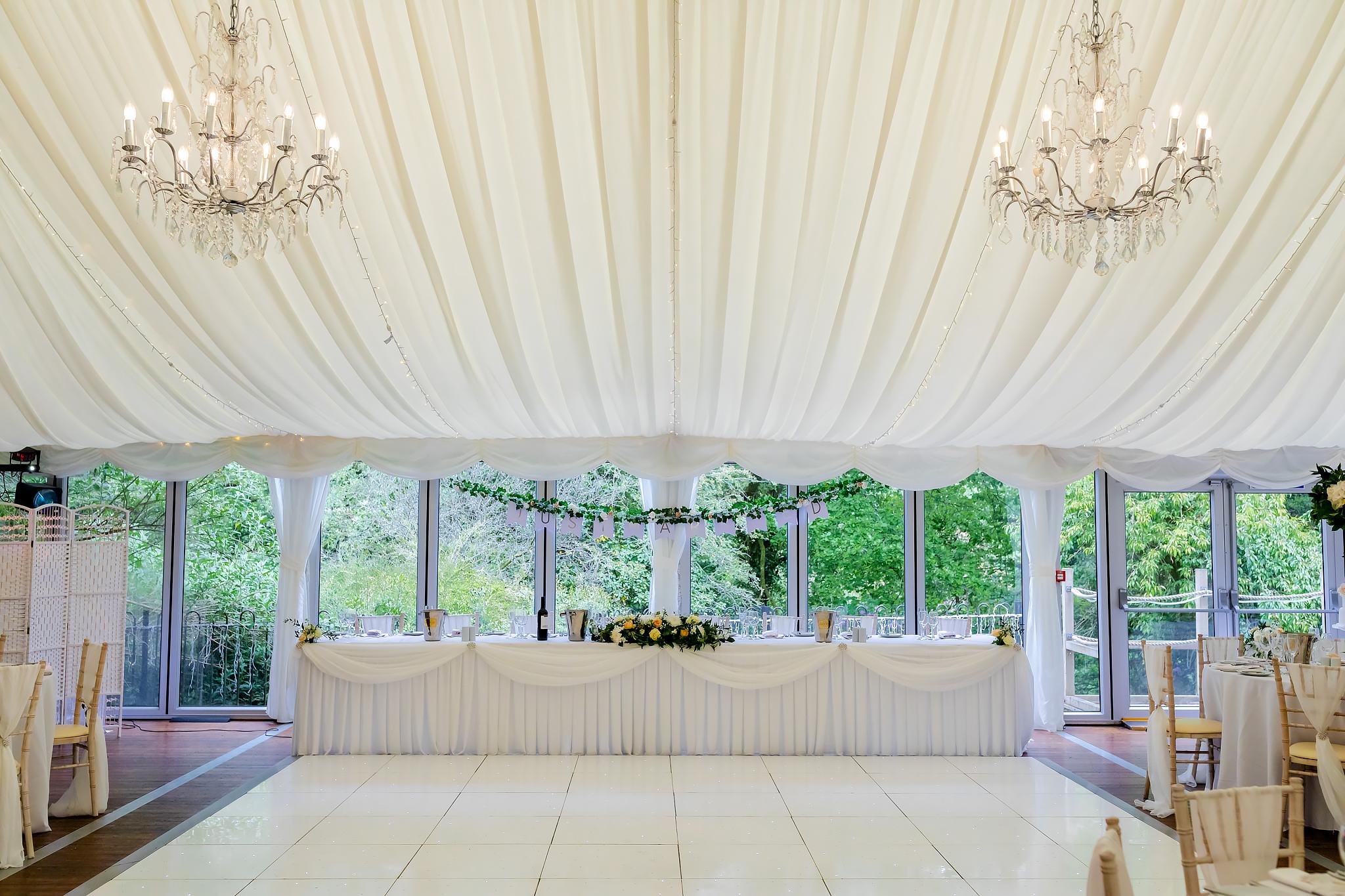 Bryngarw House Wedding Photography - Marquee