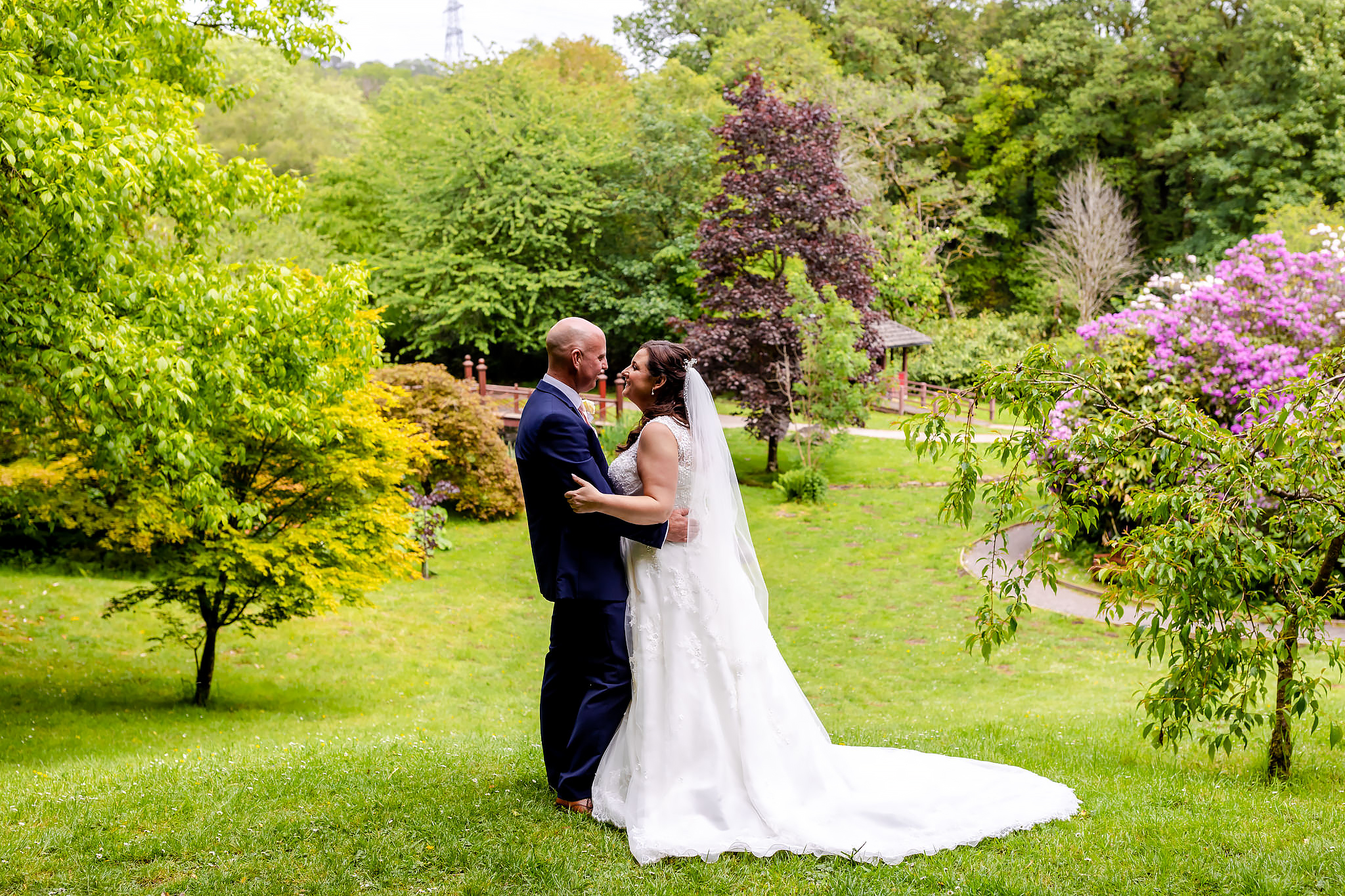 Bryngarw House Wedding Photography - Bride and Groom