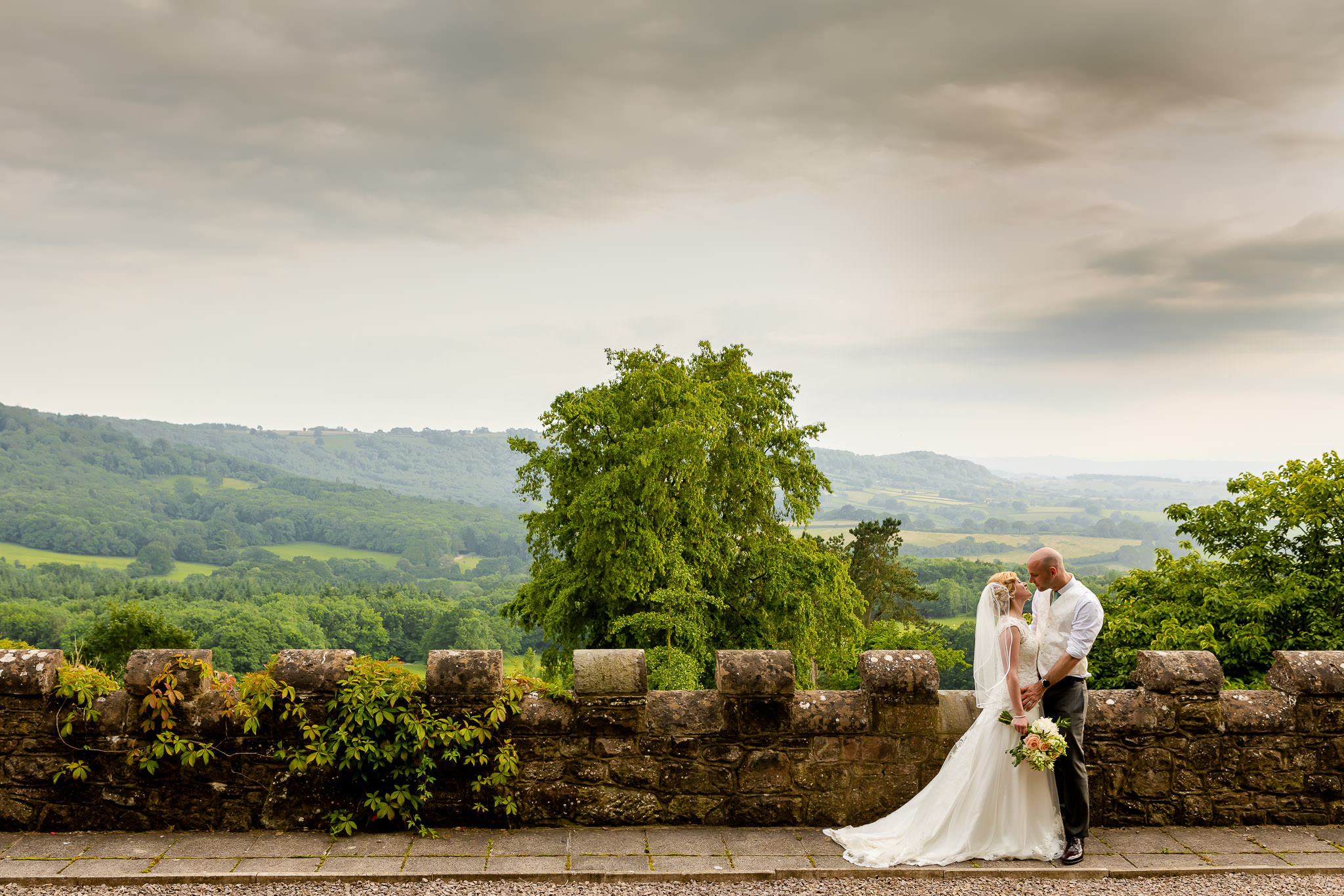 Art by Design - Caer Llan Wedding Photography - Bride and Groom Portrait