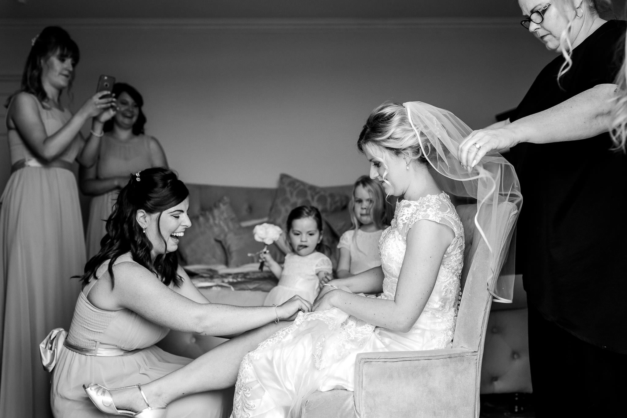 Art by Design - Wedding Photography South Wales - Bride and garter