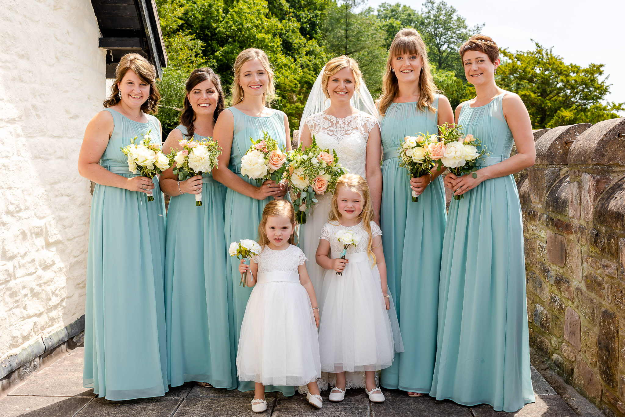 Art by Design - Caer Llan Wedding Photography - Bride and Bridesmaids