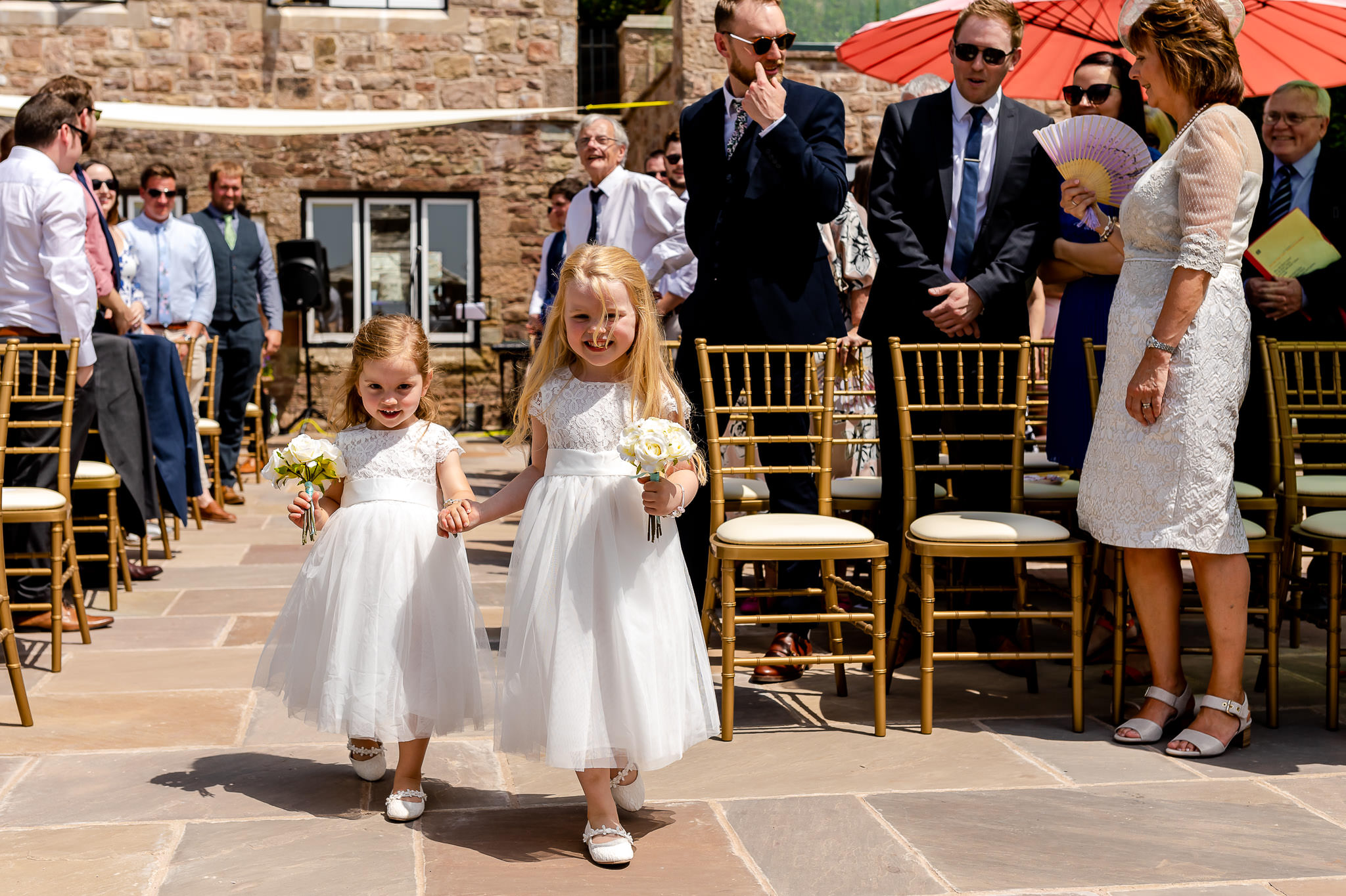 Art by Design - Caer Llan Wedding Photography - Flower girls