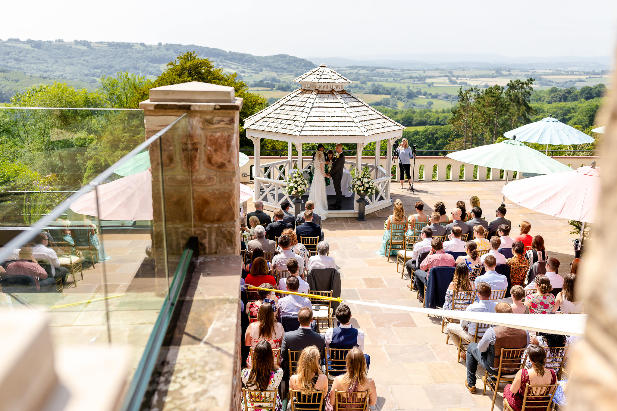 Art by Design - Caer Llan Wedding Photography - Outdoor ceremony