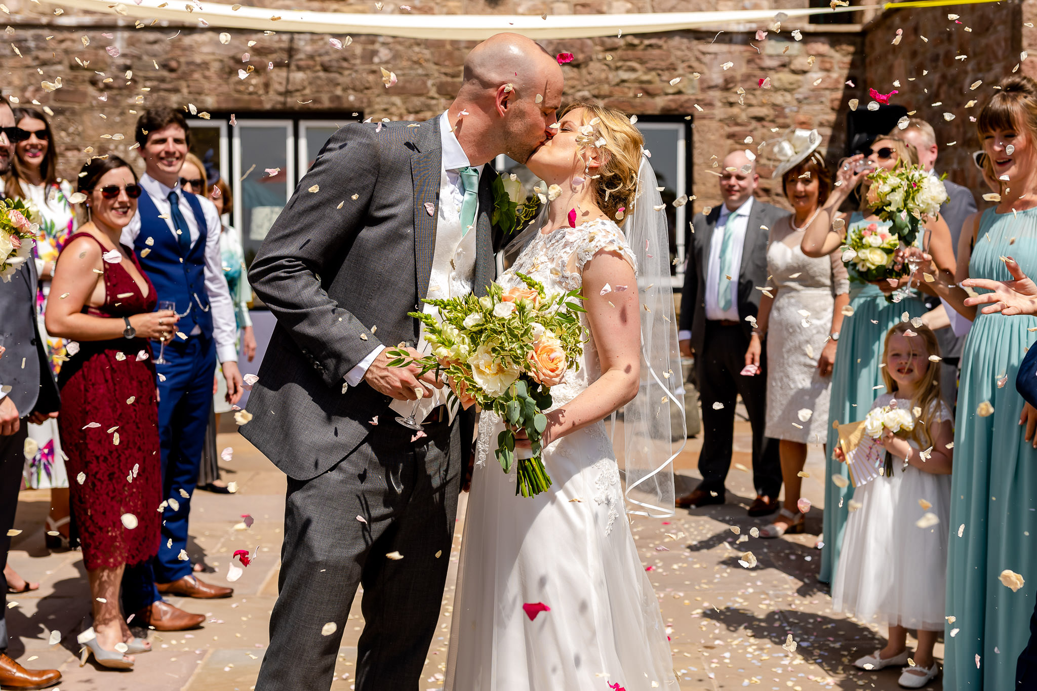Art by Design - Caer Llan Wedding Photography - Confetti