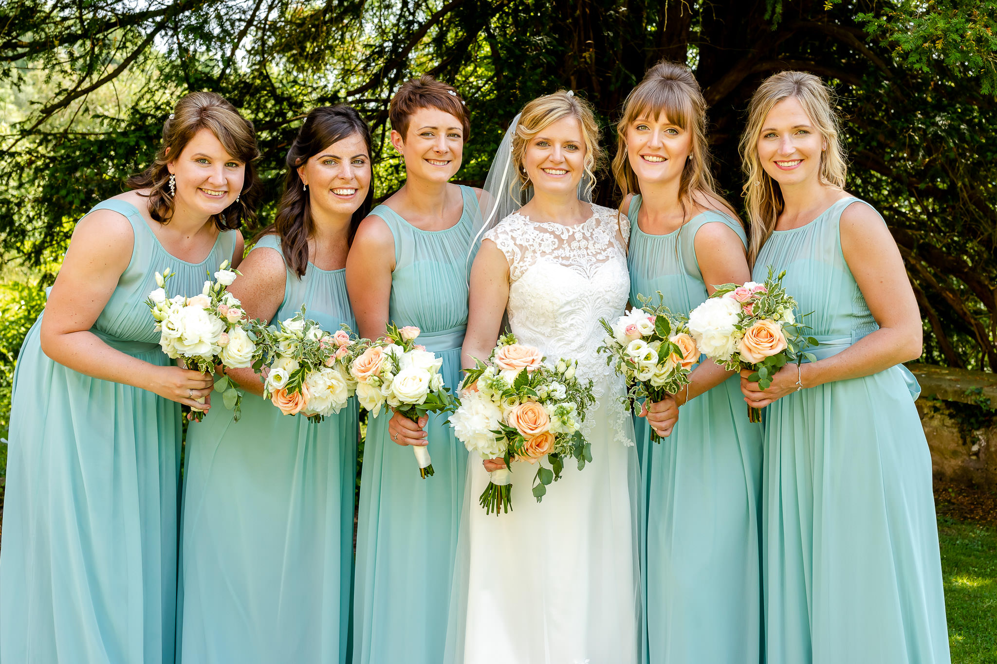 Art by Design - Caer Llan Wedding Photography - Bridesmaids