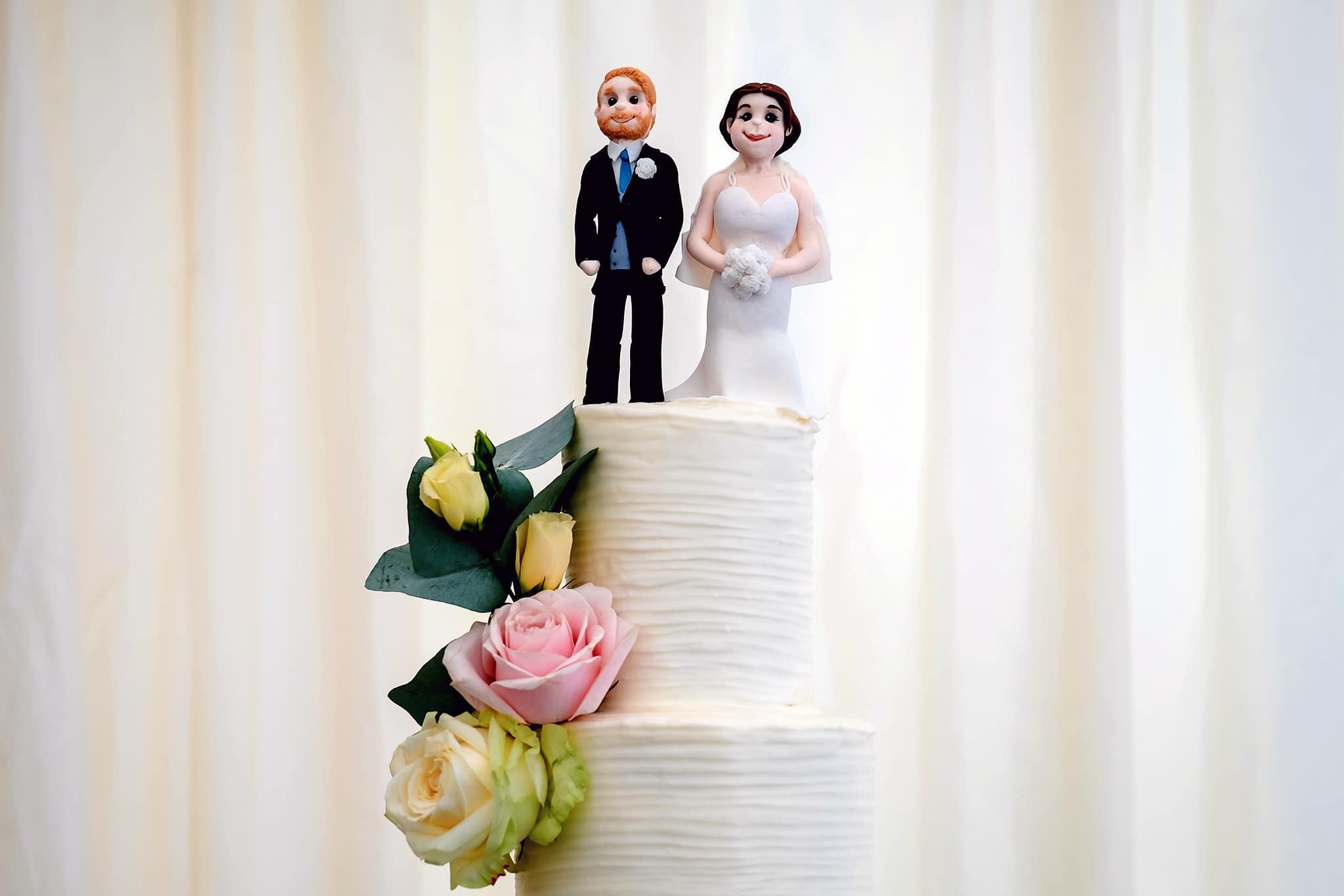Fonmon castle wedding cake topper