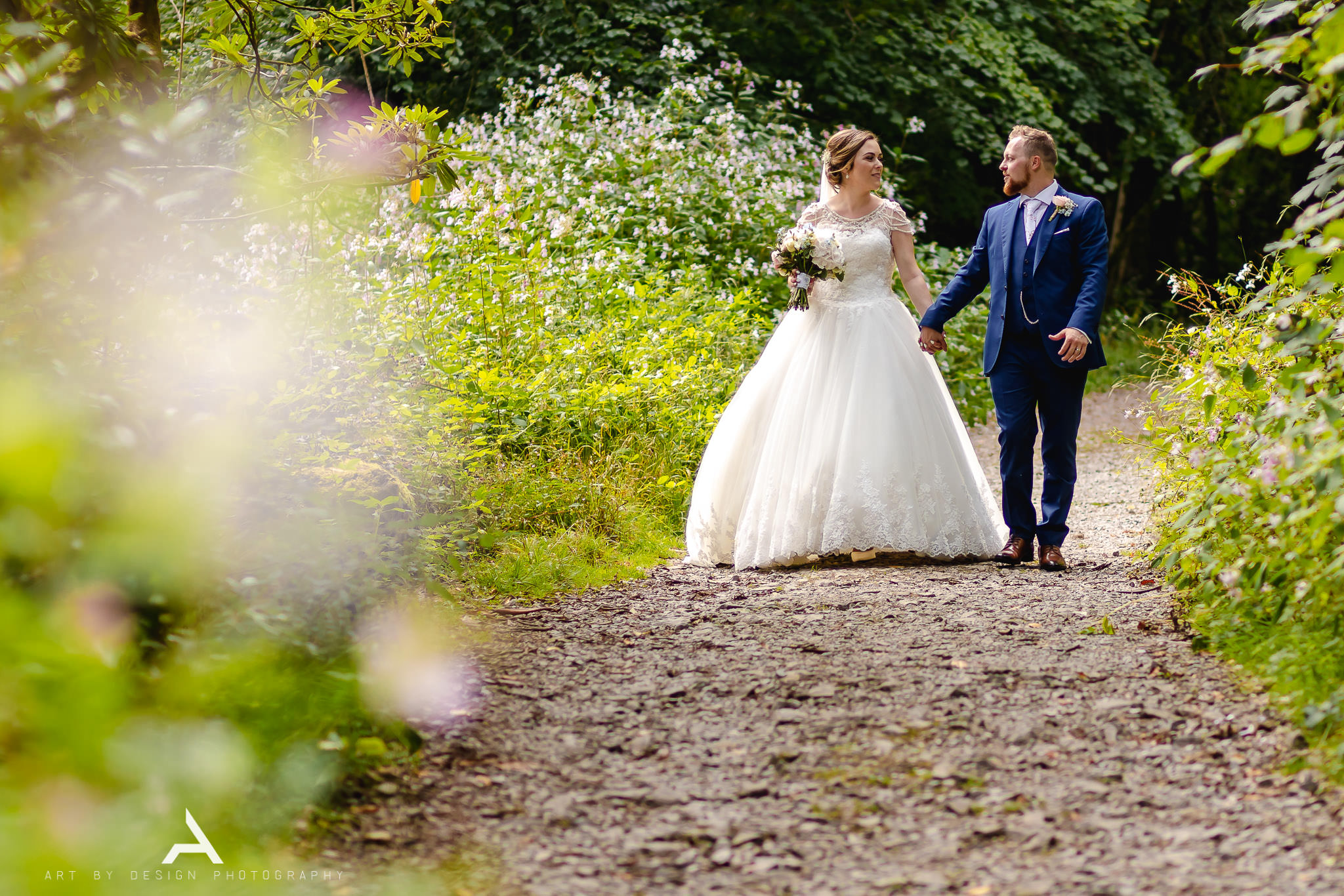 Bryngarw House Wedding - Bride and Groom