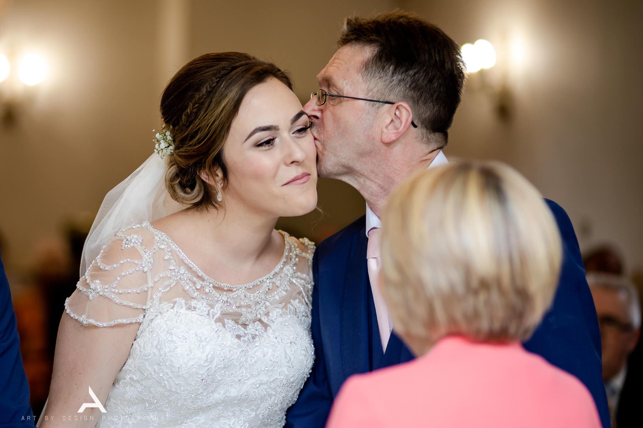 Bryngarw House Wedding - Bride and Dad