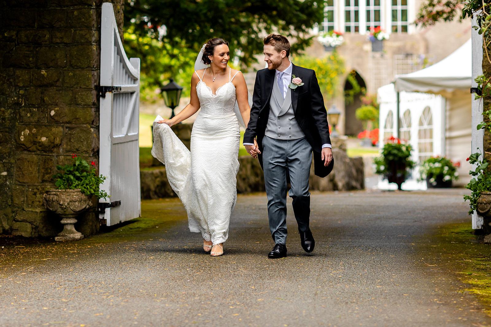 Fonmon Castle Wedding - Bride and Groom portrait
