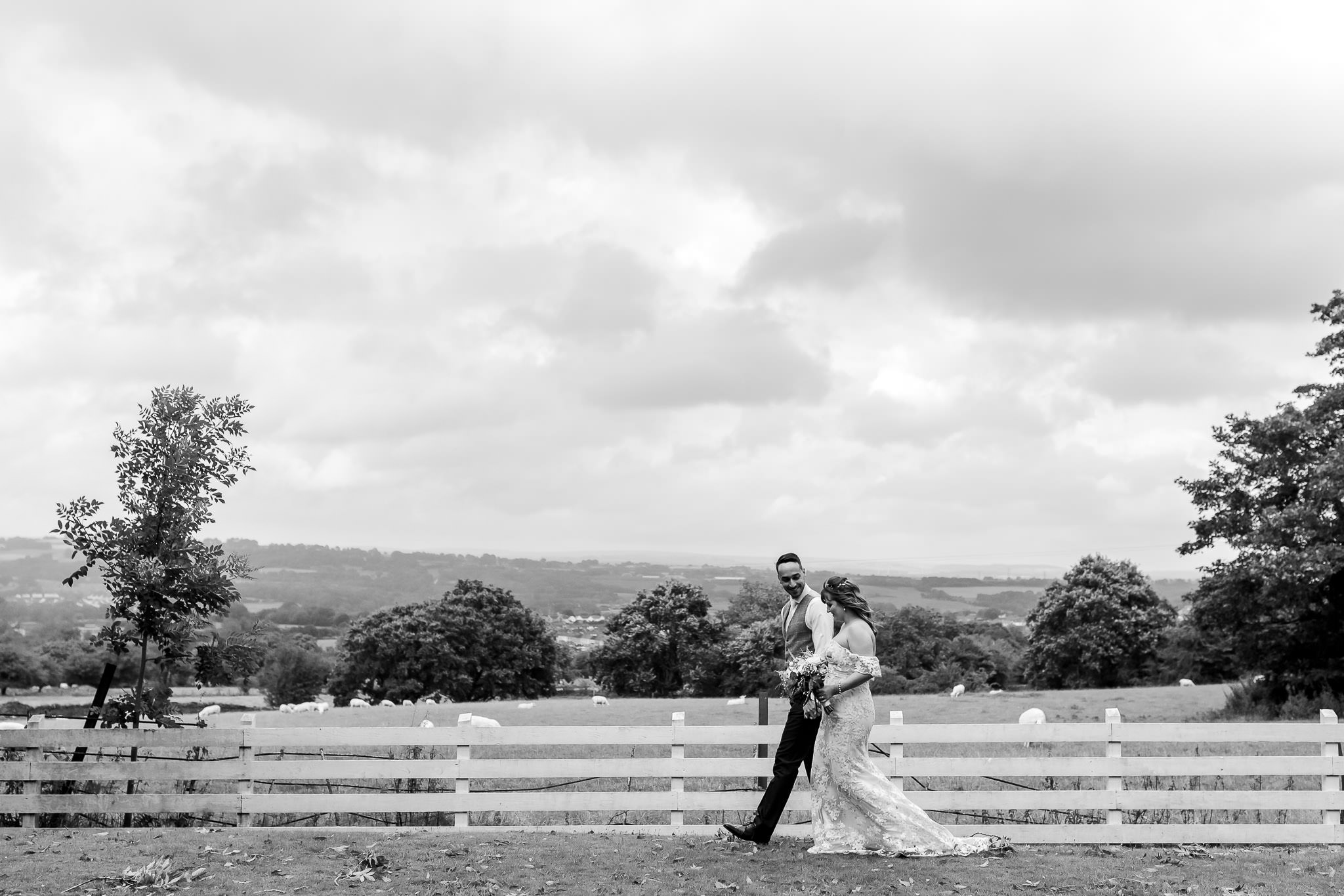 Llechwen Hall Wedding Photography - Art by Design - Bride and Groom