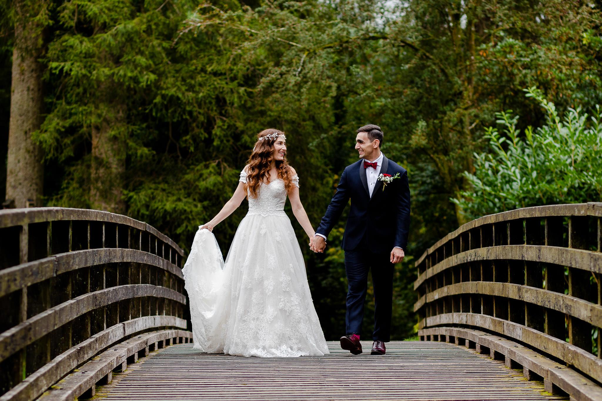Craig y nos castle wedding photography - Bride and Groom