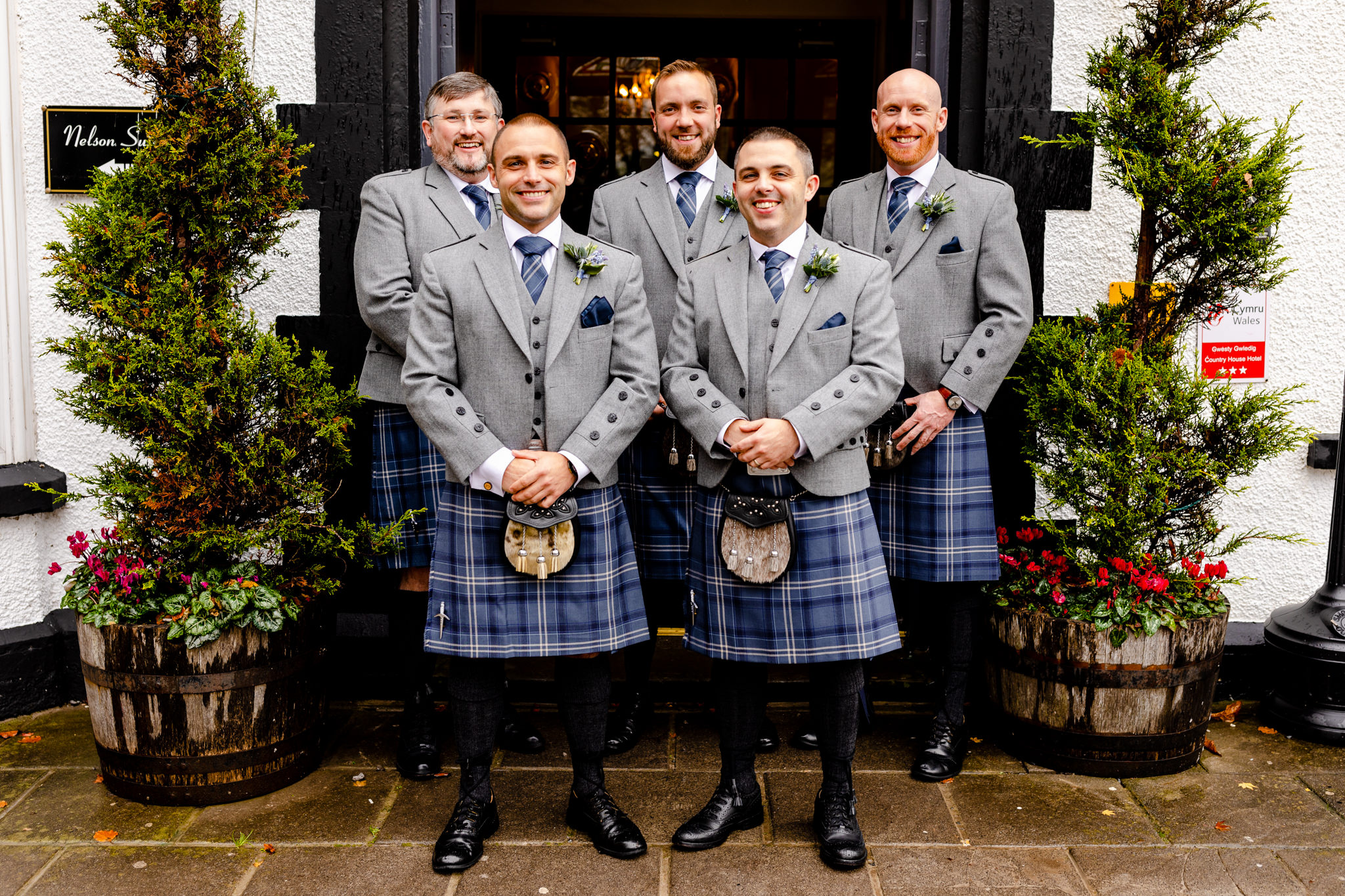 Llechwen Hall Wedding - Groomsmen
